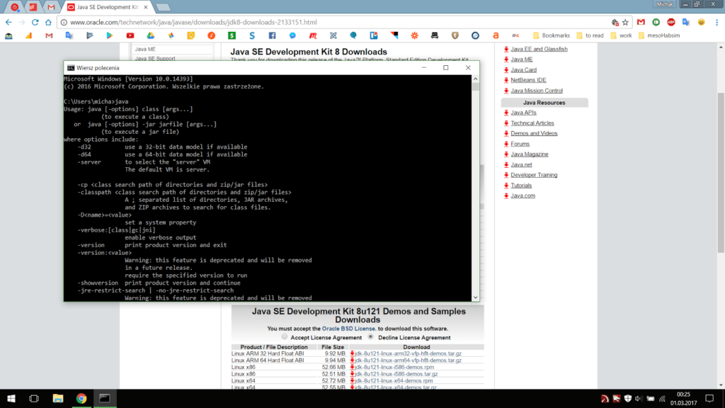 Instalacja Android Studio I Java Development Kit
